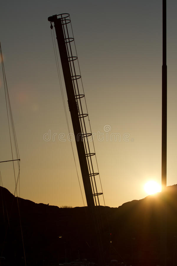 Chantiers de construction de navires photo stock