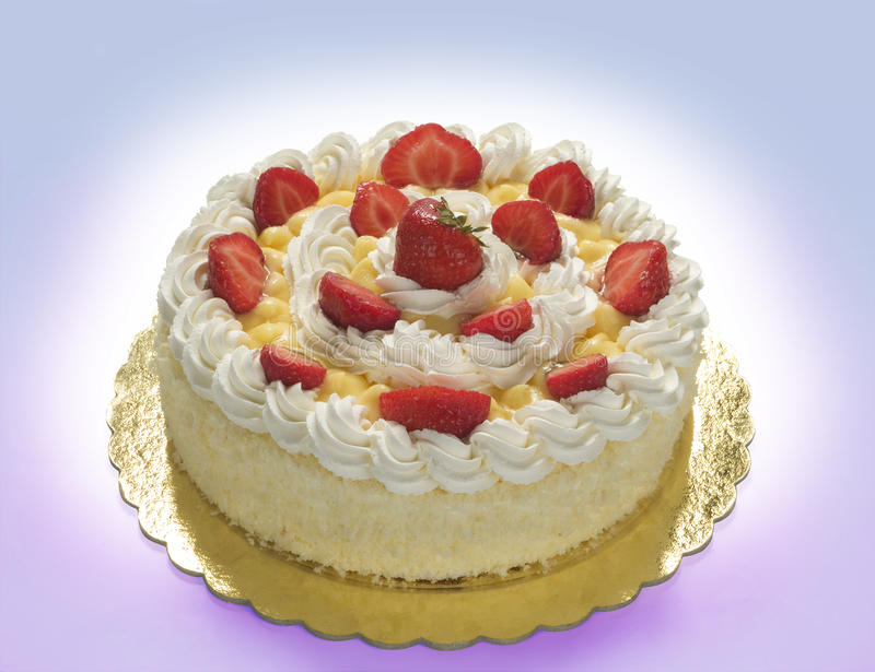 Chantilly śmietanki tort obraz stock