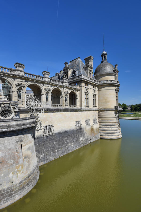 chantilly chateau de obraz stock