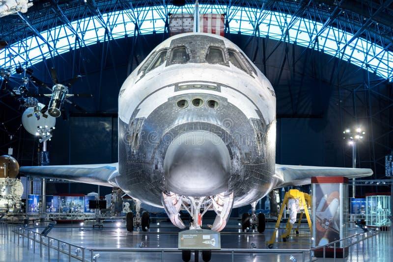 Chantilly VA - 4 de abril de 2016: Descoberta do vaivém espacial no Udv fotografia de stock royalty free