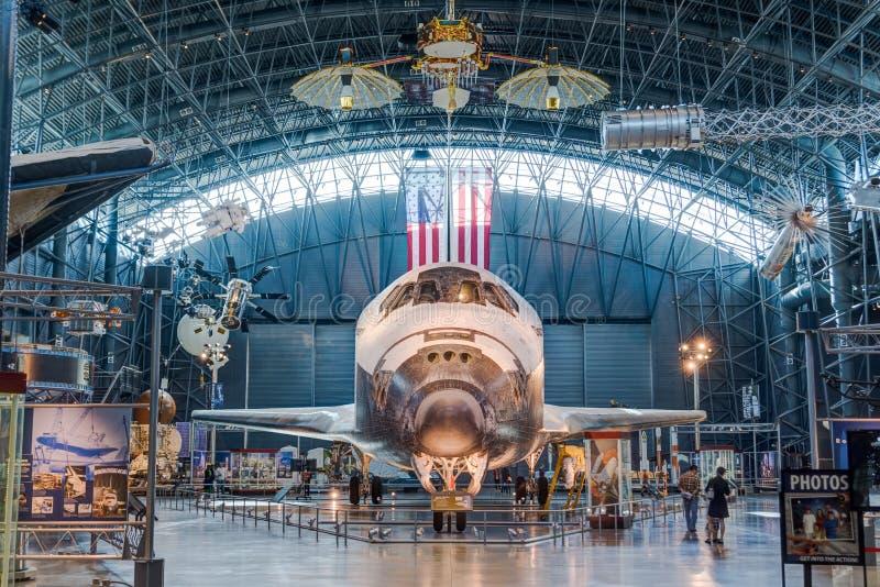 Chantilly VA - 23 de marzo de 2016: Descubrimiento del transbordador espacial en el Ud foto de archivo libre de regalías