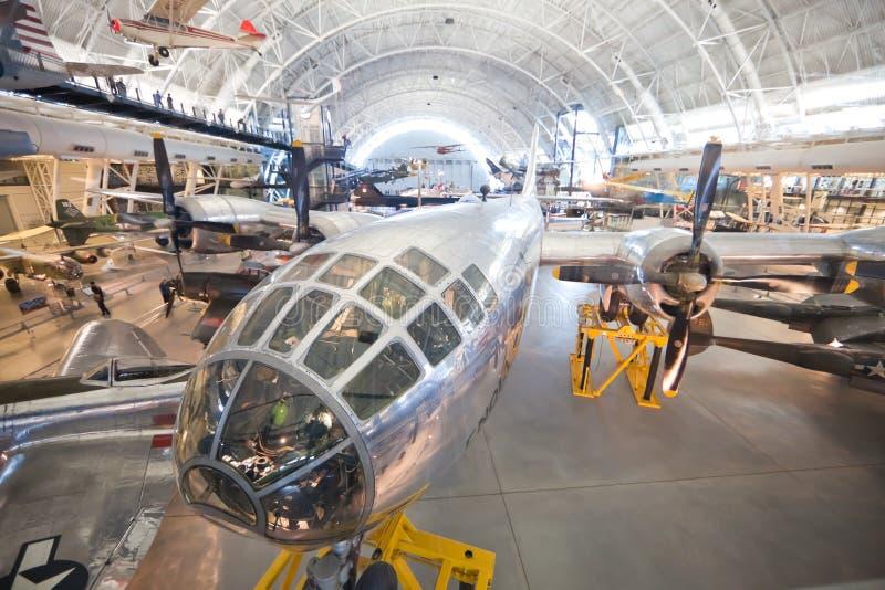 CHANTILLY, VIRGINIA - OKTOBER 10: Boeing B-29 royalty-vrije stock afbeeldingen