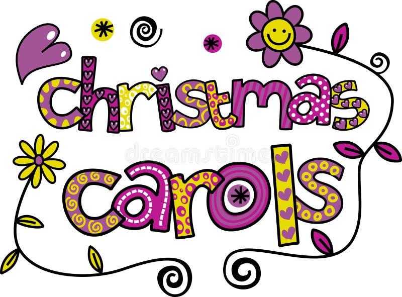 Chants de Noël illustration de vecteur