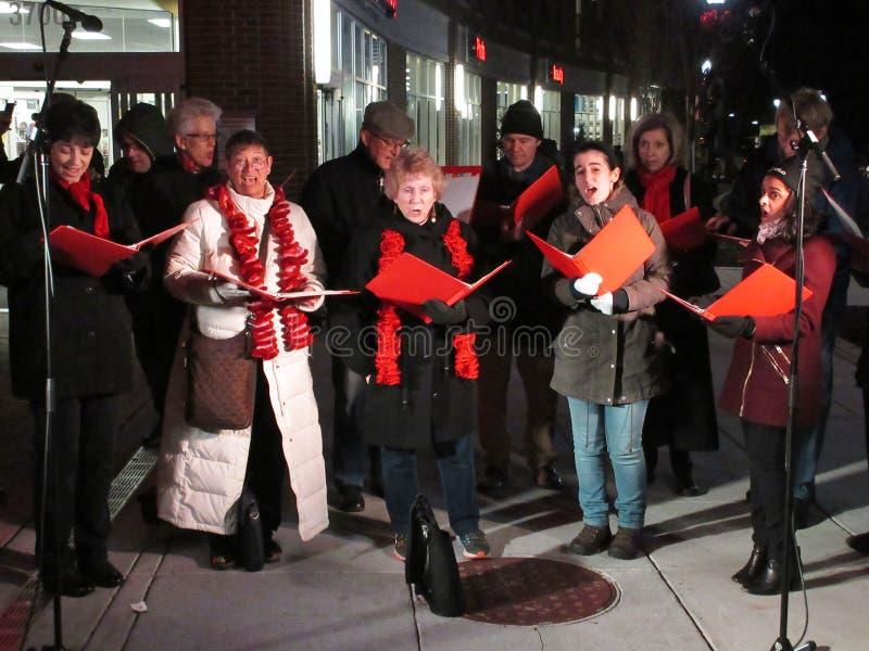 Chants de Noël dans le Washington DC photographie stock