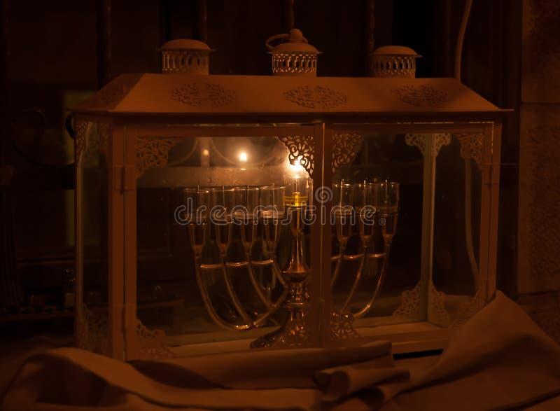 Chanuka światła w Jerozolima obrazy stock