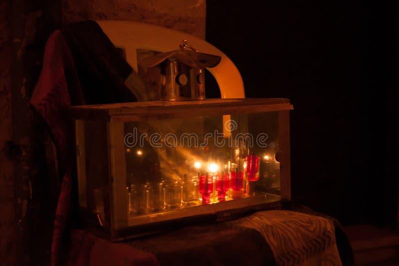 Chanuka światła w Jerozolima fotografia stock