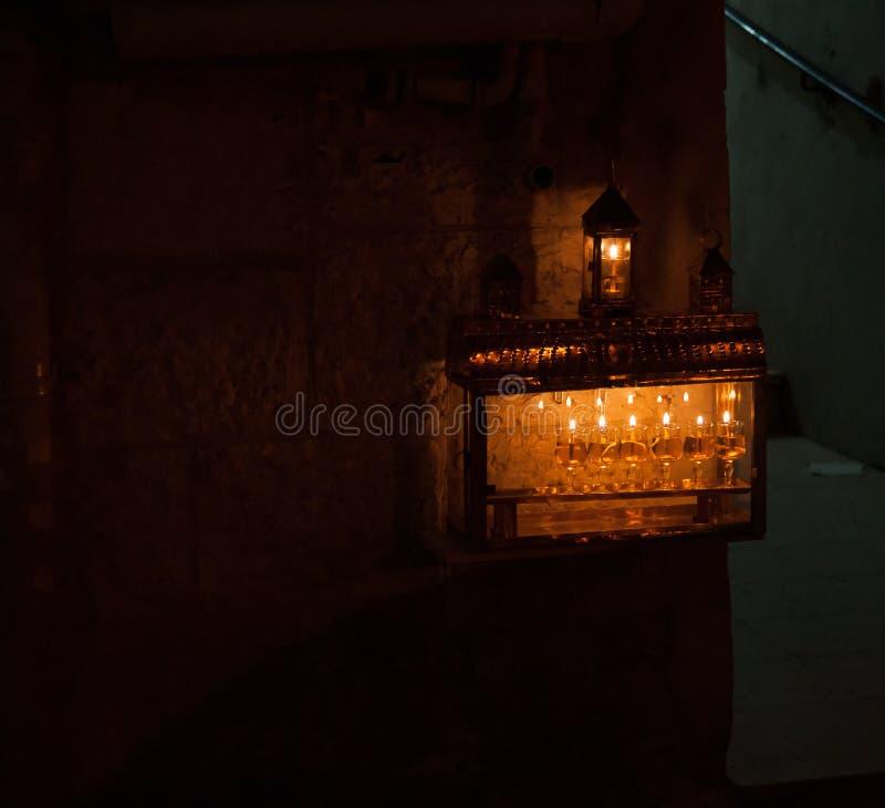 Chanuka światła w Jerozolima zdjęcie royalty free