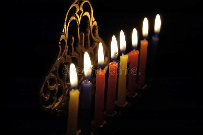 Chanuka candles royalty free stock photography