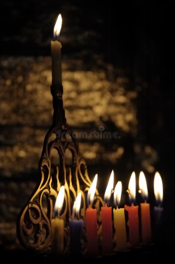 Chanuka Candles Stock Image