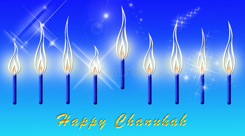 Chanukah Card royalty free illustration