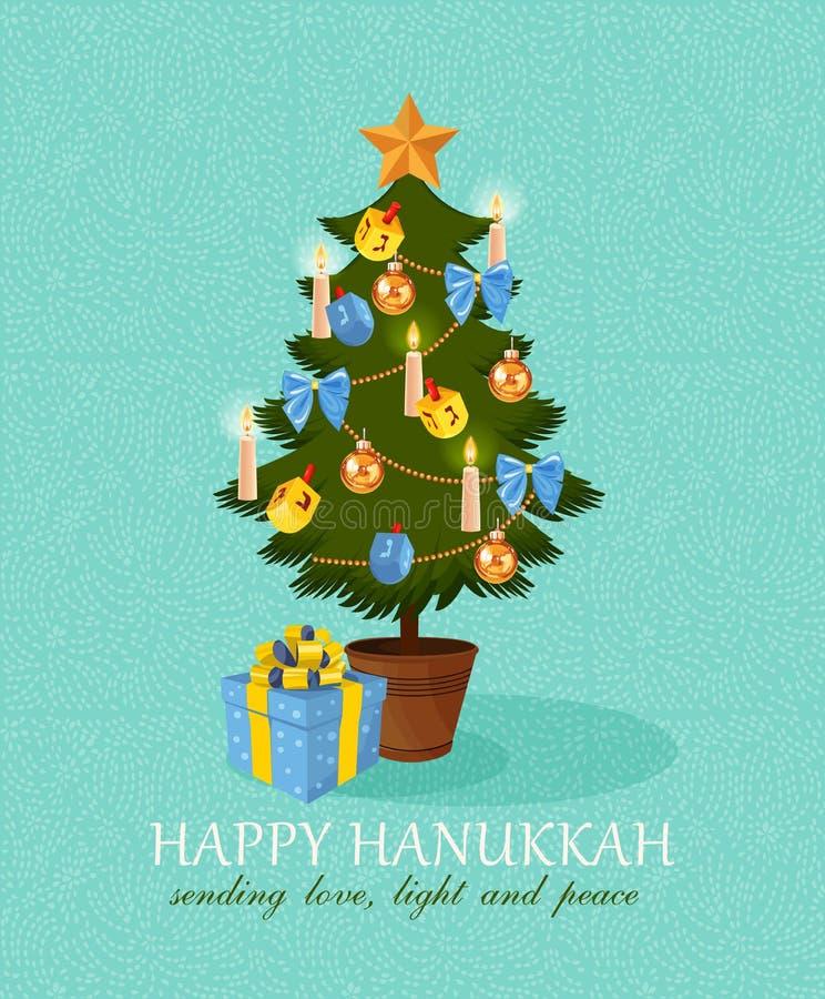 Chanukah feliz do vetor ilustração royalty free