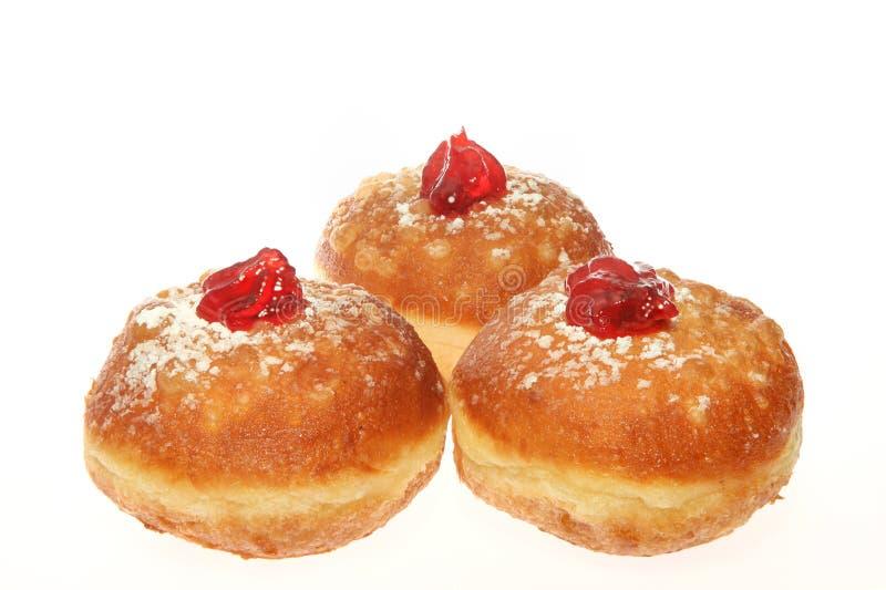 Chanukka-Donut stockbild