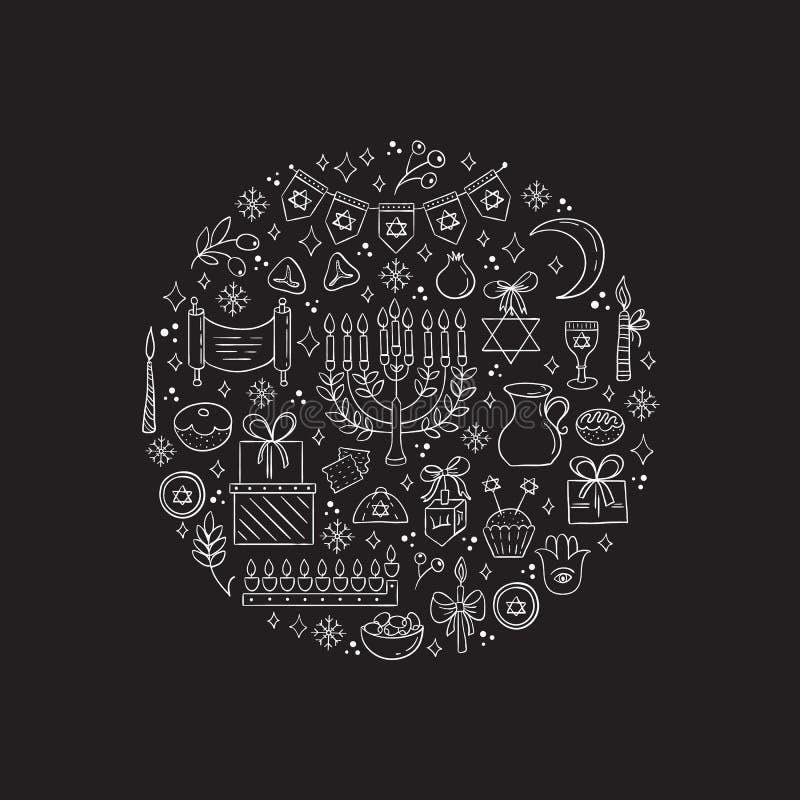 Chanukka-Gestaltungselemente