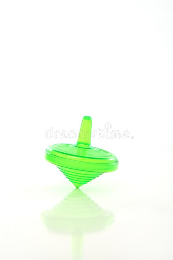 Chanukka-Grün dreidel Spinnen lizenzfreie stockfotos