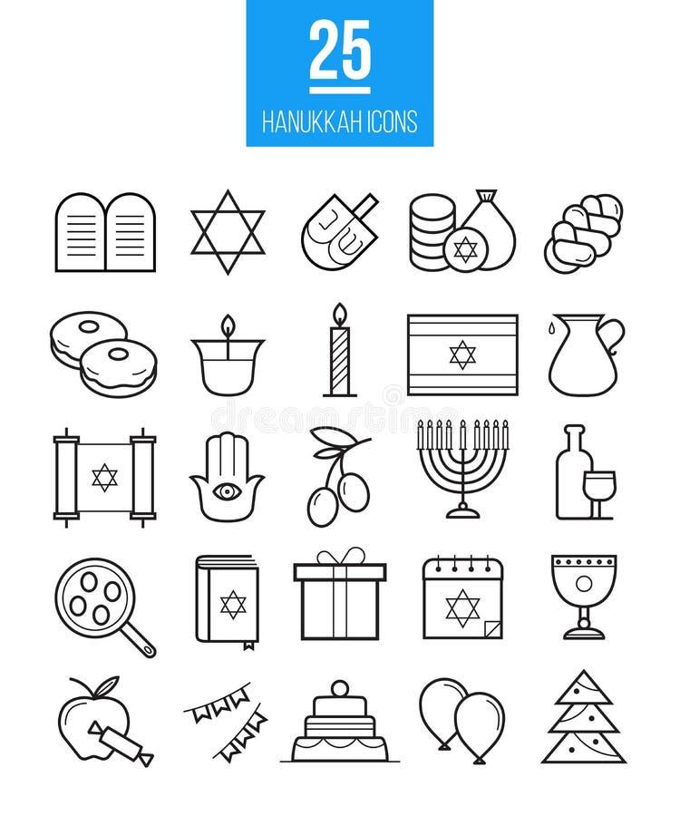 Chanukka-Linie Ikonenvektorsatz Moderner Entwurf jüdisch vektor abbildung
