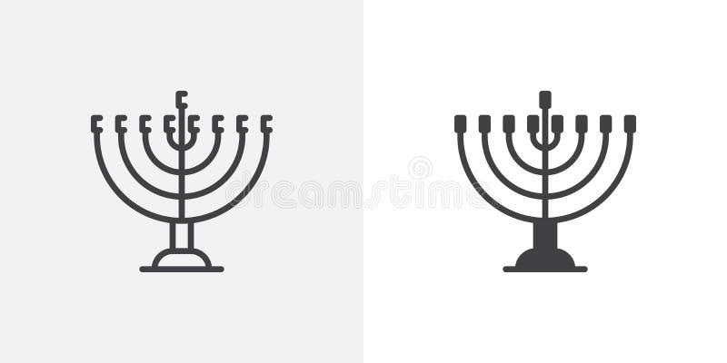 Chanukka-menorah Ikone lizenzfreie abbildung