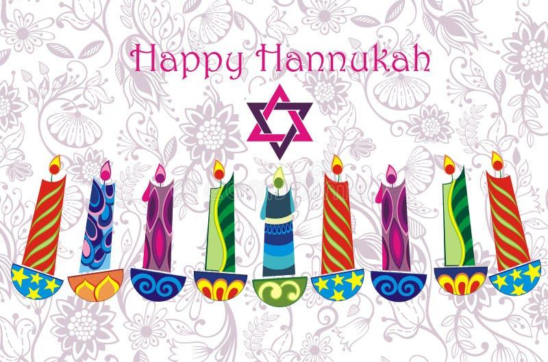 Chanukkahbakgrund royaltyfri illustrationer