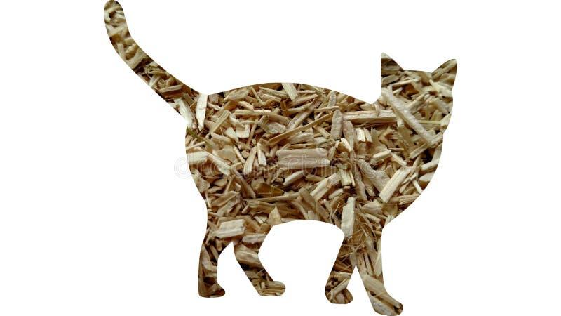 Chanvre industriel Hurd Feline Cat illustration de vecteur