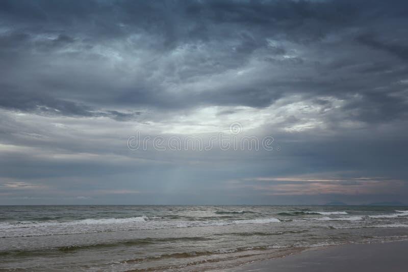 Chao Lao Beach, het Strand in Chanthaburi-provincie stock foto