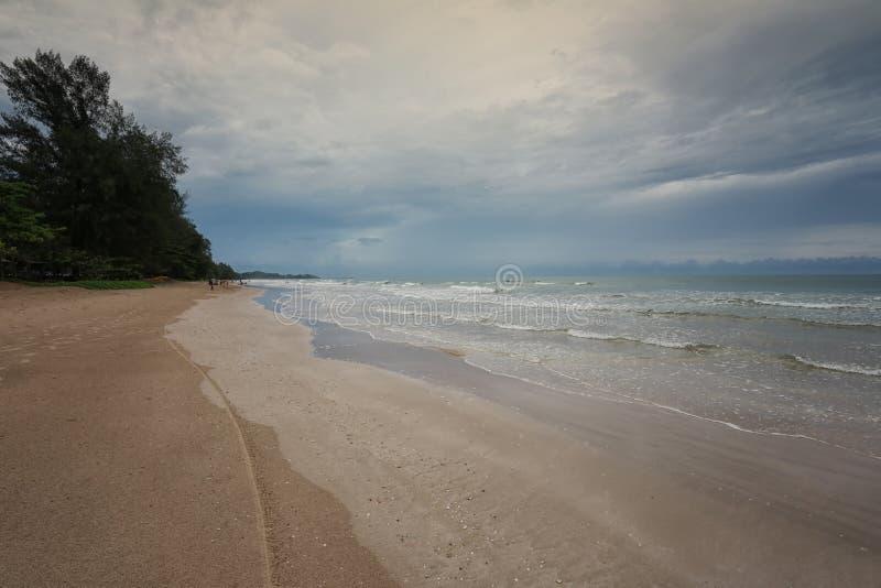 Chao Lao Beach, het Strand in Chanthaburi-provincie stock afbeeldingen
