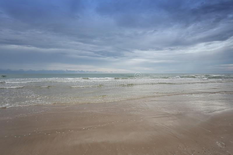 Chao Lao Beach, het Strand in Chanthaburi-provincie royalty-vrije stock fotografie