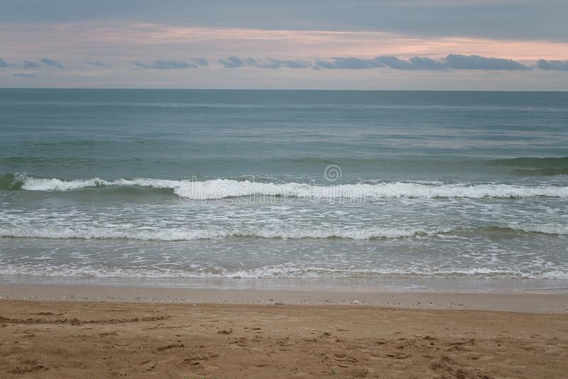 Chao Lao Beach, het Strand in Chanthaburi-provincie stock afbeelding