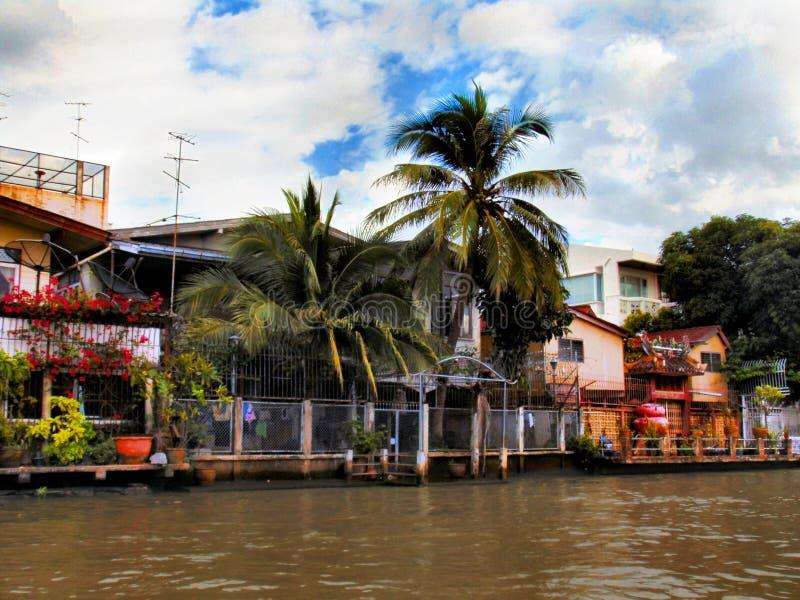 Chao Phraya河,曼谷 免版税图库摄影
