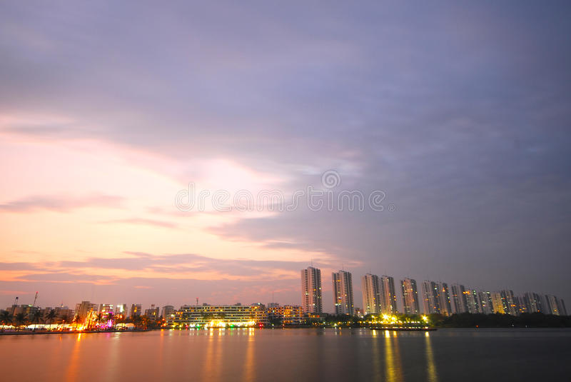 Download Chao phraya the river stock photo. Image of moon, downtown - 20018958
