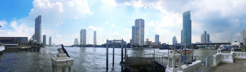Chao Phraya River ,Beautiful Bangkok cityscape , River view , Bangkok ,Thailand royalty free stock photos