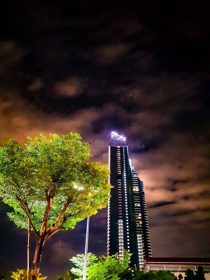 Chao Praya riverside condo royalty free stock photography