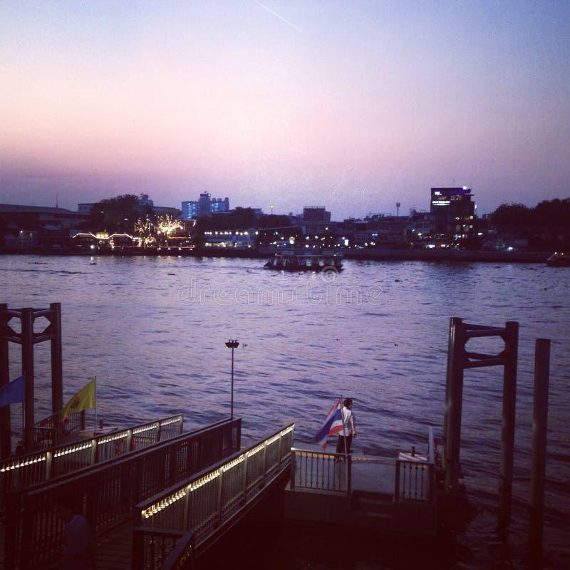 Chao rzeka Phraya obrazy royalty free