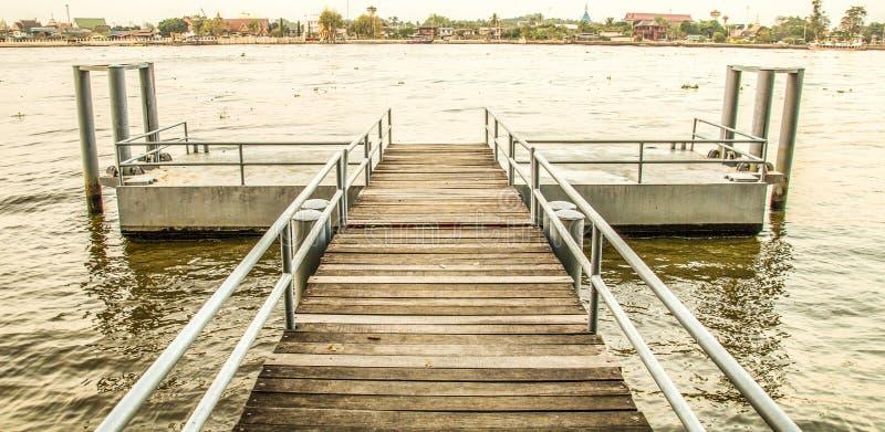 Chaopraya rzeki molo obrazy royalty free
