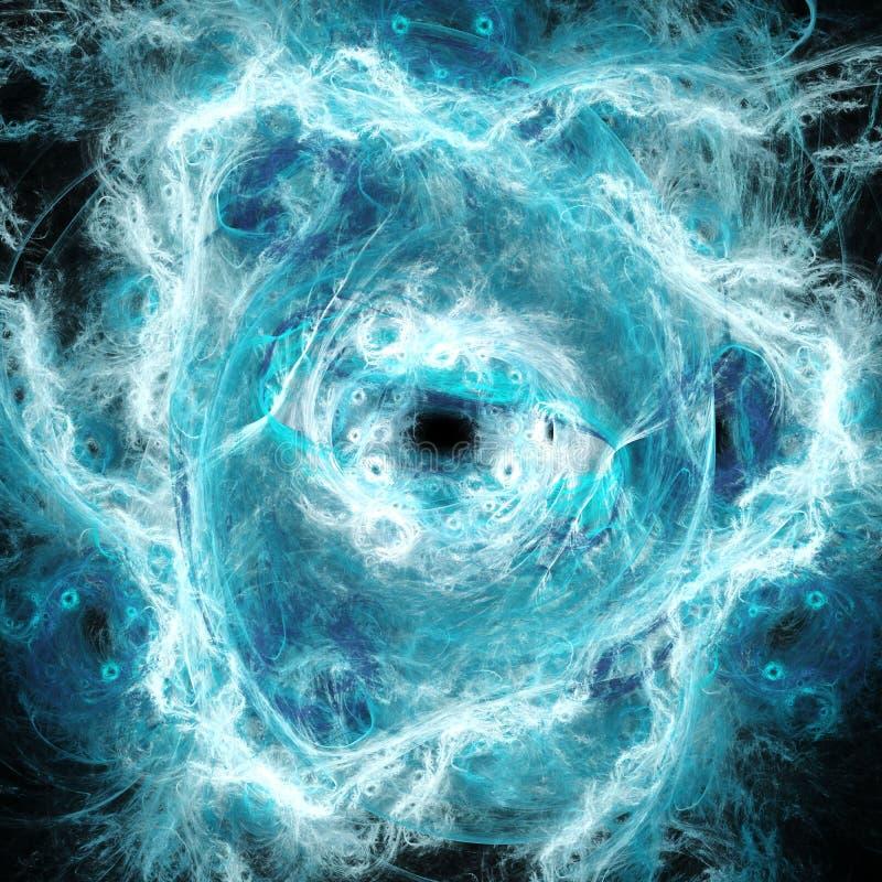 Chaos ardent Fumée et étincelles illustration de vecteur