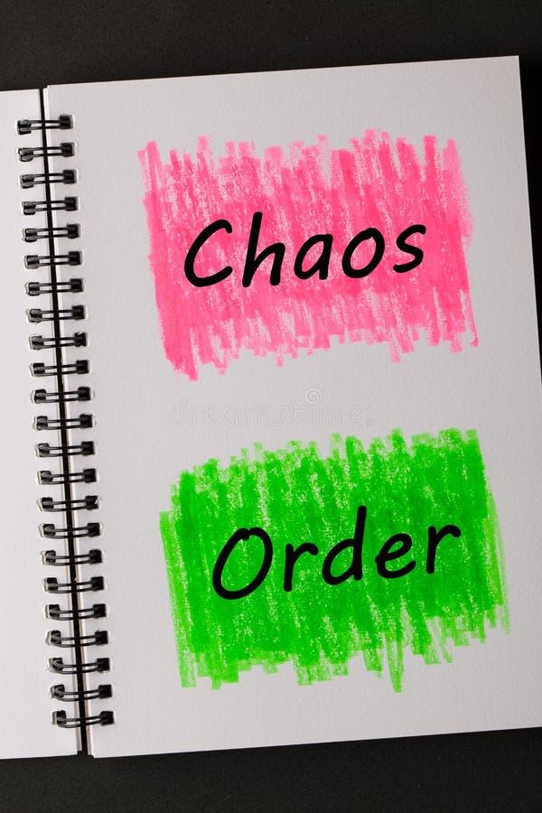 Chaos-Auftrags-Konzept lizenzfreies stockfoto