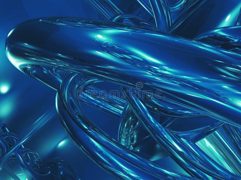 Chaos bleu illustration stock