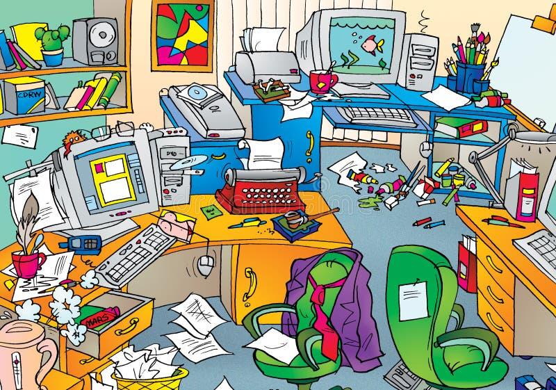 Chaos d'étude illustration de vecteur