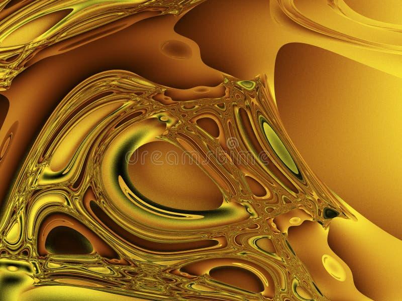Chaos d'or illustration libre de droits