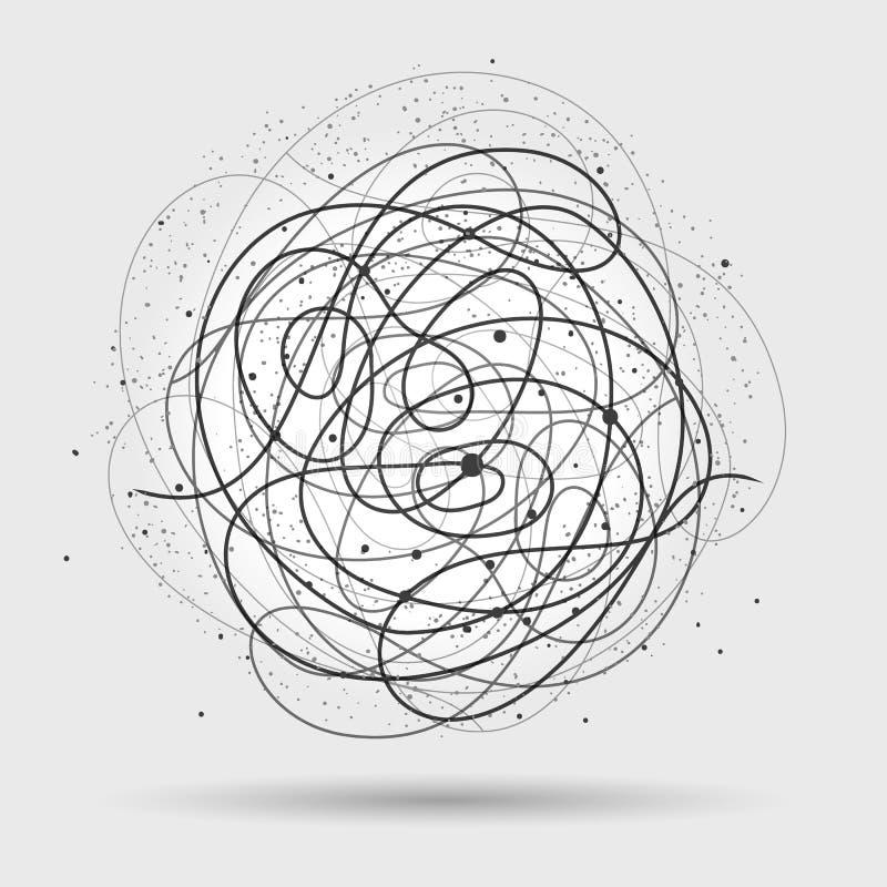 Chaos depeszuje abstrakcjonistycznego tło ilustracja wektor