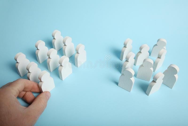 Chaos en ordecontrole Bedrijfs mededeling royalty-vrije stock afbeeldingen