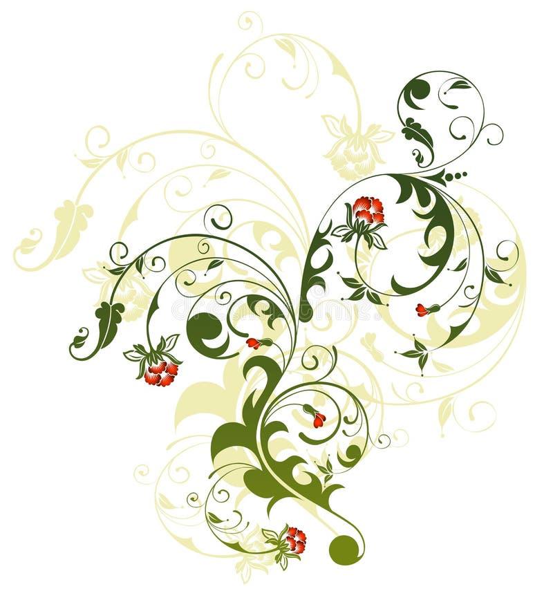 Chaos floral abstrait illustration libre de droits