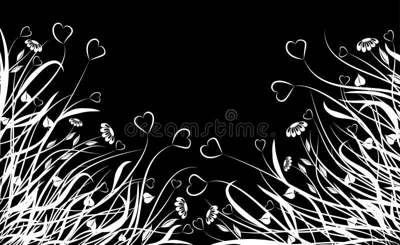 Chaos floral de Valentine, vecteur illustration libre de droits
