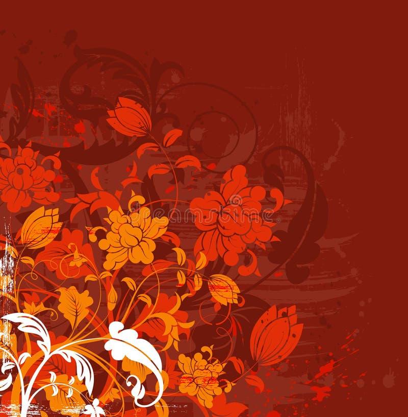 Chaos floral grunge illustration libre de droits