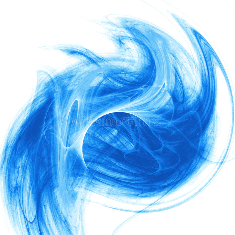 Chaos flow. Blue chaos romantic flow on white background vector illustration