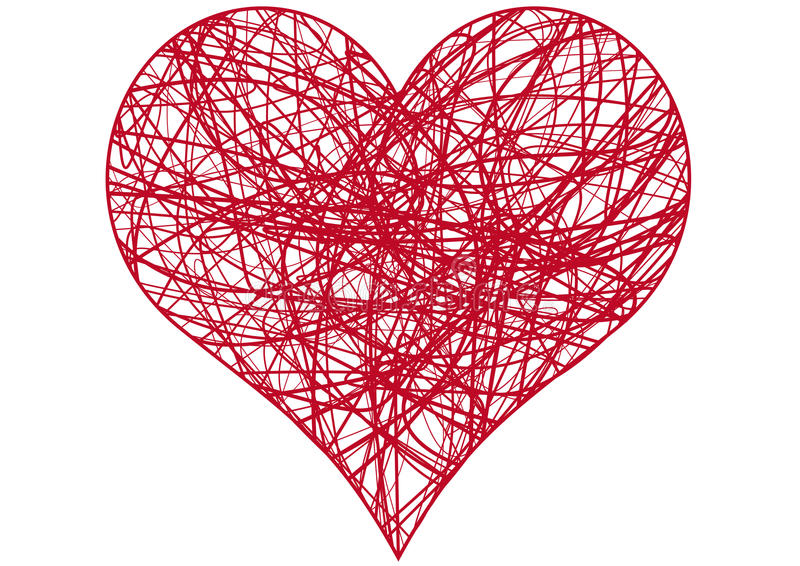 Chaos heart, vector stock illustration