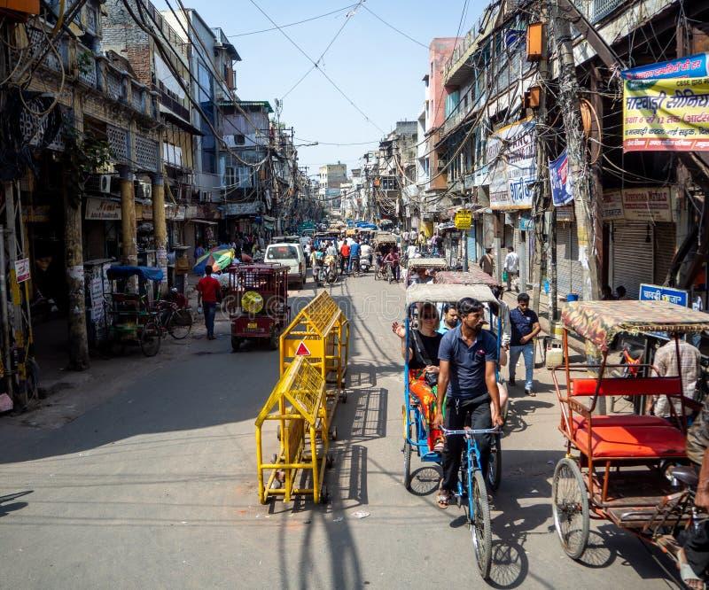 Chaos i nieład w Delhi obraz stock