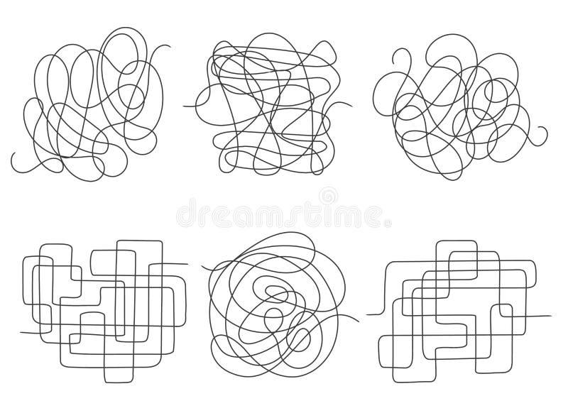 Chaos linie ustawiać ilustracja wektor
