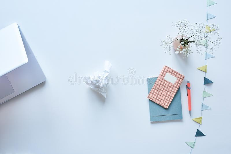 Chaos in the middle of organisation inspirational workspace. Chaos in the middle of organization inspirational workspace free thinking royalty free stock image