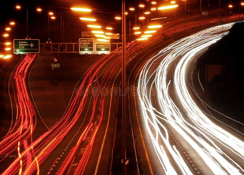 chaos night traffic στοκ φωτογραφία με δικαίωμα ελεύθερης χρήσης