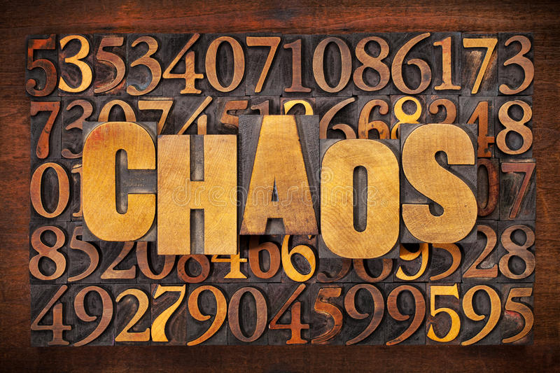Chaos and numbers word abstract royalty free stock images