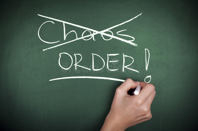 Chaos or Order stock image